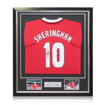 Framed Teddy Sheringham Signed Man United Shirt