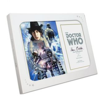 Tom Baker Dr Who Signed Poster. In Gift Box