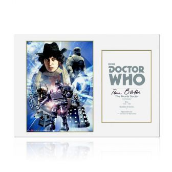 Tom Baker Dr Who Signed Poster