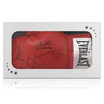 Sugar Ray Leonard, Thomas Hearns And Roberto Duran Signed Glove. In Gift Box