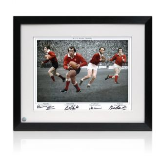 Gareth Edwards, JPR Williams And Phil Bennett Signed Photograph