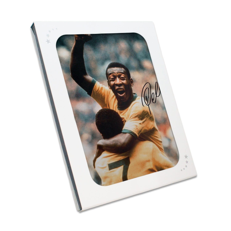 Pele Signed With Jairzinho Autographed Memorabilia Gift