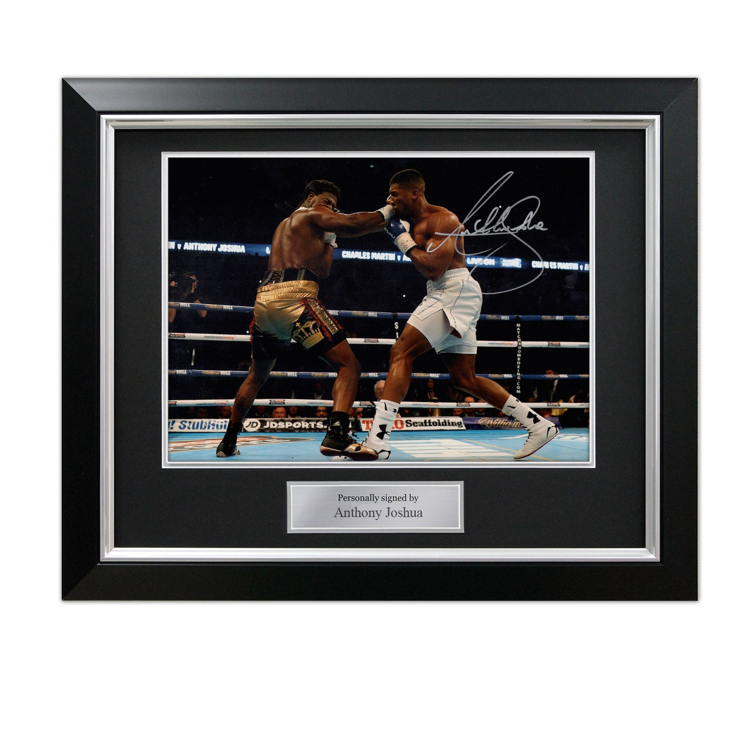 image is loading anthony joshua signed photo fighting charles martin autograph
