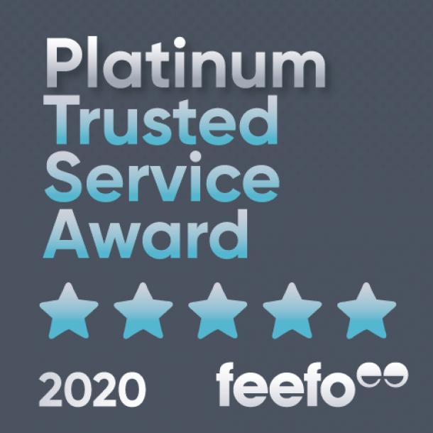 Feefo Platinum Trusted Service Award Winners!