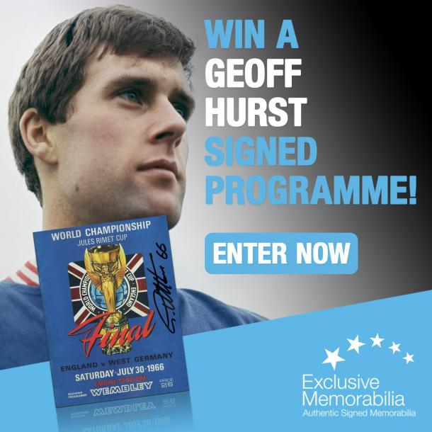 WIN  a programme signed by Sir Geoff Hurst!