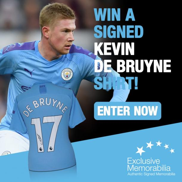 WIN a Kevin De Bruyne signed shirt!