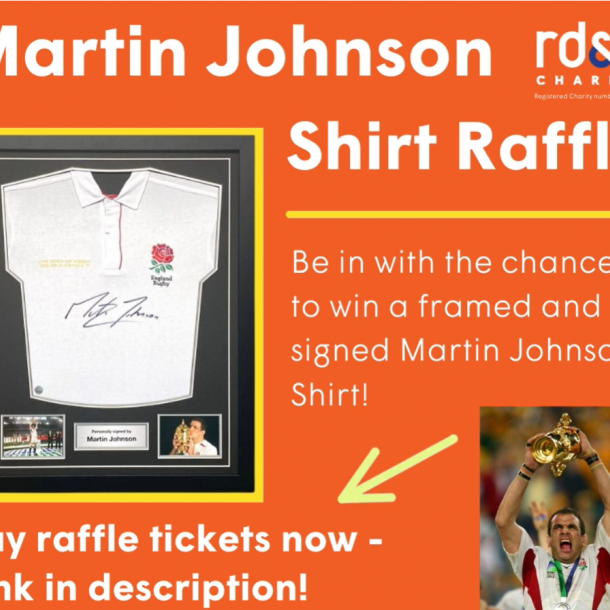 Win a signed and framed Martin Johnson shirt!