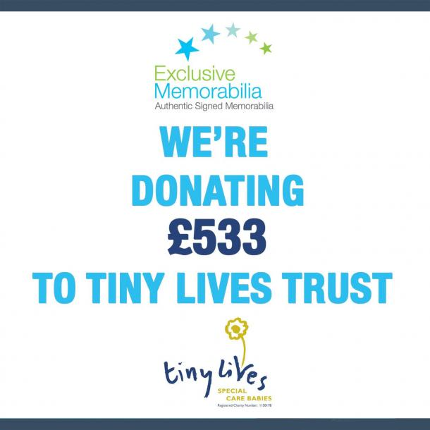 We're donating £533 to Tiny Lives!