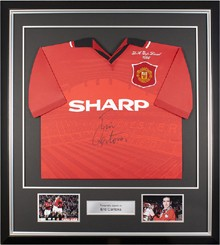 Football Memorabilia | Framed Cantona Shirt