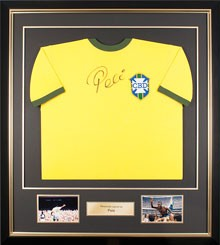 Football Memorabilia | Framed Pele Shirt