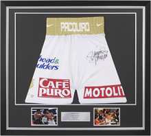 Boxing Memorabilia | Framed Pacquiao Trunks