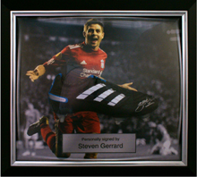 Memorabilia framing: Gerrard boot