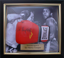 Specialist Sports Memorabilia Framing: Henry Cooper Glove