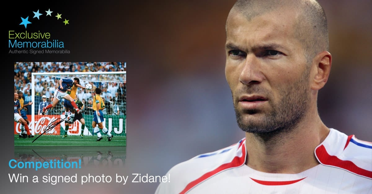Win a signed Zidane photo