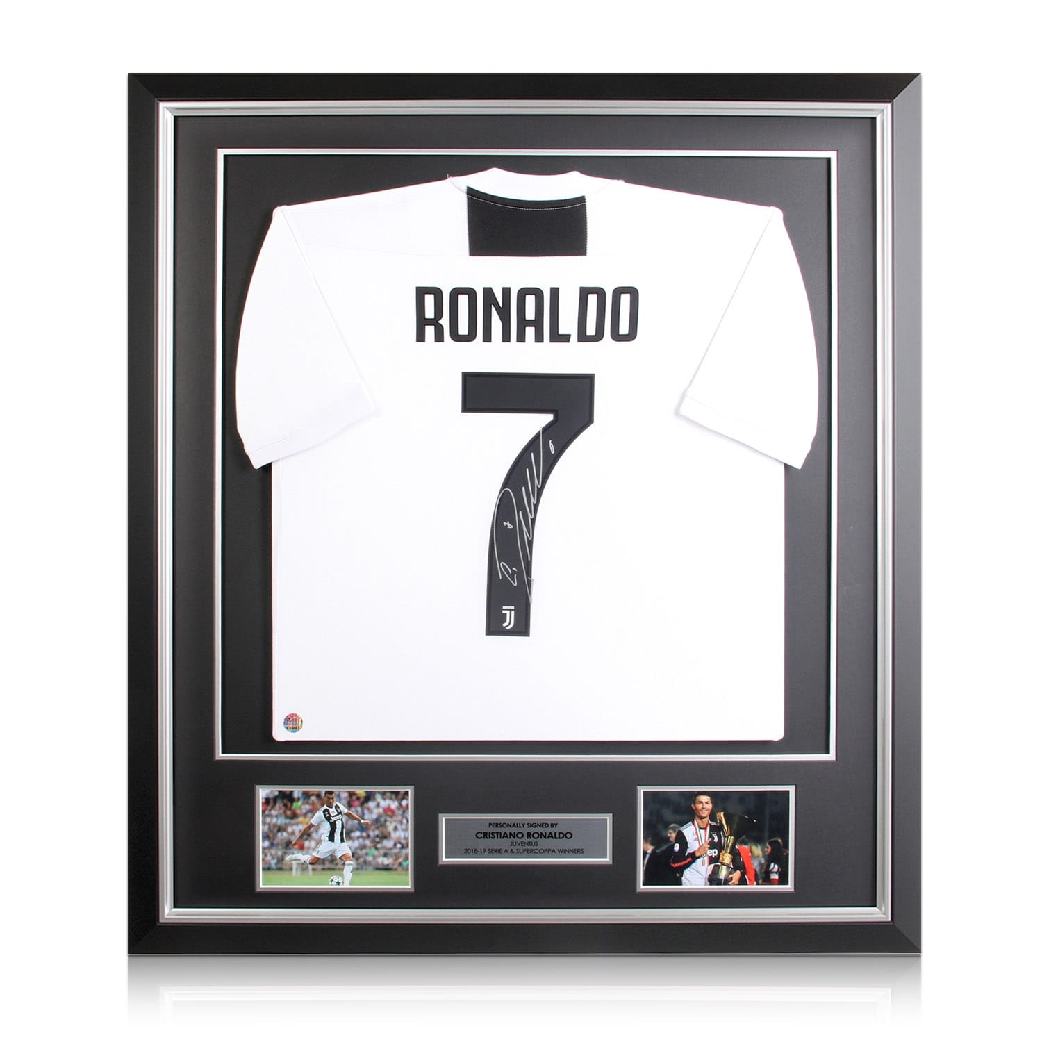 pretty nice b483e 2a81a Details about Cristiano Ronaldo Signed Juventus Soccer Jersey In Deluxe  Frame